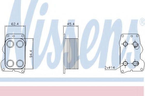масляный радиатор, двигательное масло NISSENS 90740