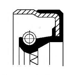 Уплотняющее кольцо вала, автоматическая коробка передач CORTECO 01026543B