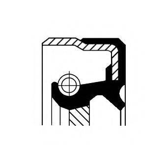 Уплотняющее кольцо, ступенчатая коробка передач CORTECO 01035029B