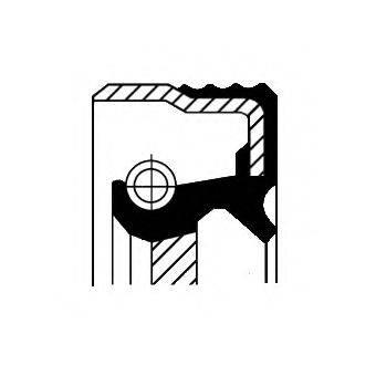 Уплотняющее кольцо, ступенчатая коробка передач CORTECO 01034714B