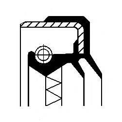 Уплотняющее кольцо, ступица колеса CORTECO 01016689B