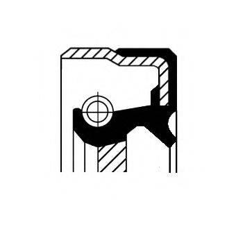 Уплотняющее кольцо, ступенчатая коробка передач CORTECO 01019913B