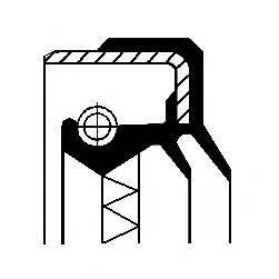 Уплотняющее кольцо, ступица колеса CORTECO 01017013B