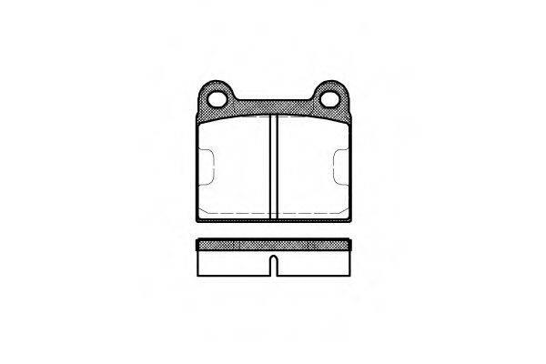 Комплект тормозных колодок, дисковый тормоз REMSA 0006.60