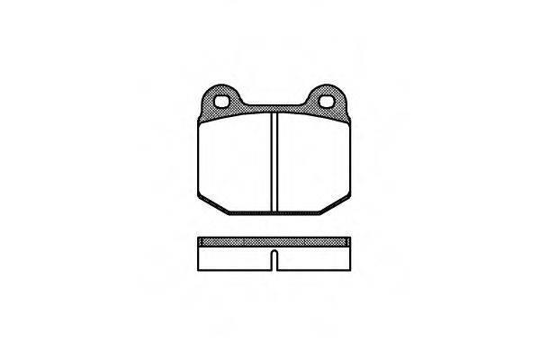Комплект тормозных колодок, дисковый тормоз REMSA 0014.00