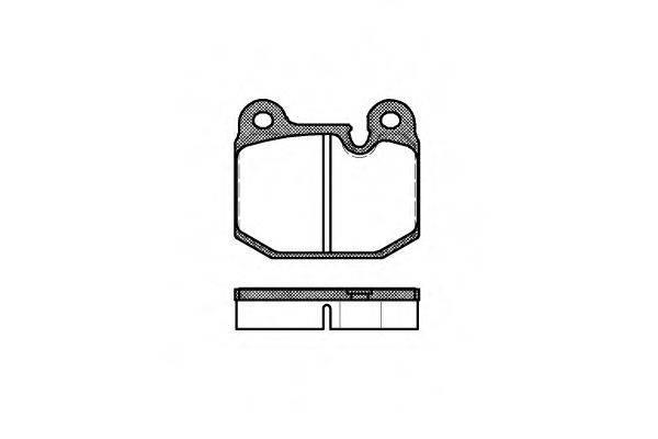 Комплект тормозных колодок, дисковый тормоз REMSA 0014.10