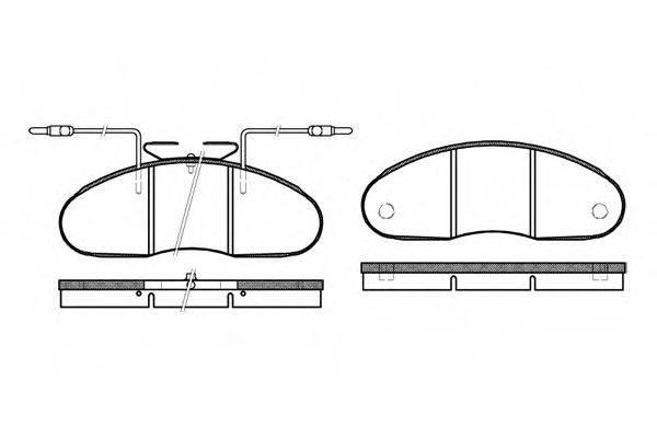 Комплект тормозных колодок, дисковый тормоз REMSA 0048.02