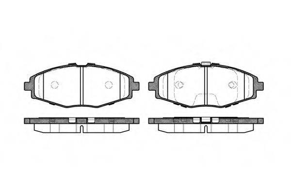 Комплект тормозных колодок, дисковый тормоз REMSA 0696.00