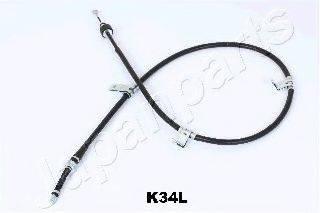 Трос, стояночная тормозная система JAPANPARTS BC-K34L