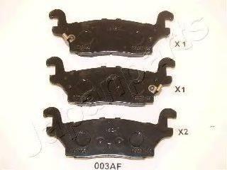 Комплект тормозных колодок, дисковый тормоз JAPANPARTS PP-003AF
