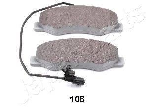 Комплект тормозных колодок, дисковый тормоз JAPANPARTS PP-106AF