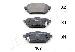 Комплект тормозных колодок, дисковый тормоз JAPANPARTS PP-107AF
