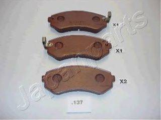 Комплект тормозных колодок, дисковый тормоз JAPANPARTS PP-137AF