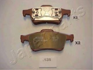 Комплект тормозных колодок, дисковый тормоз JAPANPARTS PP-138AF