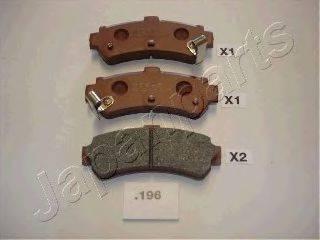 Комплект тормозных колодок, дисковый тормоз JAPANPARTS PP-196AF