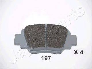 Комплект тормозных колодок, дисковый тормоз JAPANPARTS PP-197AF
