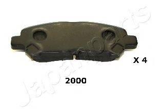 Комплект тормозных колодок, дисковый тормоз JAPANPARTS PP-2000AF