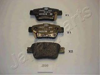 Комплект тормозных колодок, дисковый тормоз JAPANPARTS PP-200AF