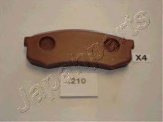 Комплект тормозных колодок, дисковый тормоз JAPANPARTS PP-210AF