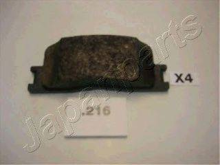 Комплект тормозных колодок, дисковый тормоз JAPANPARTS PP-216AF
