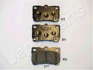 Комплект тормозных колодок, дисковый тормоз JAPANPARTS PP-217AF