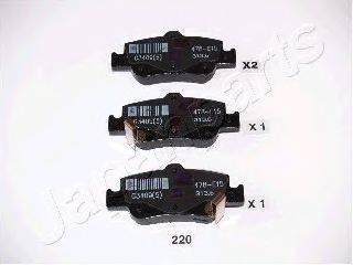 Комплект тормозных колодок, дисковый тормоз JAPANPARTS PP-220AF