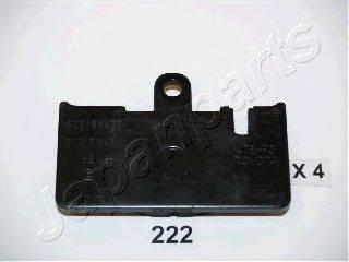 Комплект тормозных колодок, дисковый тормоз JAPANPARTS PP-222AF