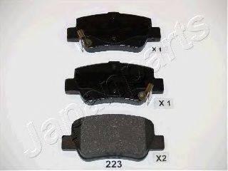 Комплект тормозных колодок, дисковый тормоз JAPANPARTS PP-223AF