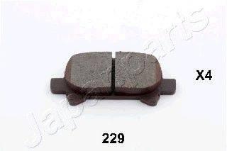 Комплект тормозных колодок, дисковый тормоз JAPANPARTS PP-229AF