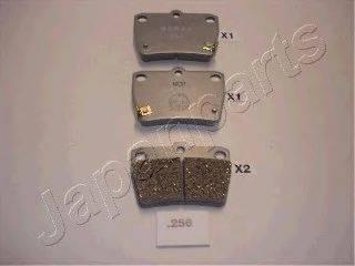 Комплект тормозных колодок, дисковый тормоз JAPANPARTS PP-256AF