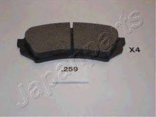 Комплект тормозных колодок, дисковый тормоз JAPANPARTS PP-259AF