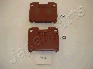 Комплект тормозных колодок, дисковый тормоз JAPANPARTS PP-294AF