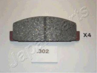 Комплект тормозных колодок, дисковый тормоз JAPANPARTS PP-302AF