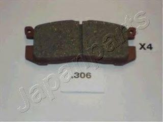 Комплект тормозных колодок, дисковый тормоз JAPANPARTS PP-306AF
