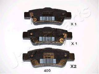 Комплект тормозных колодок, дисковый тормоз JAPANPARTS PP-400AF