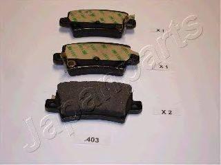 Комплект тормозных колодок, дисковый тормоз JAPANPARTS PP-403AF