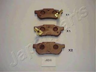 Комплект тормозных колодок, дисковый тормоз JAPANPARTS PP-404AF