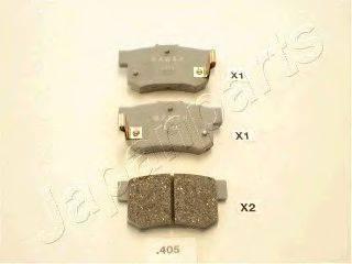 Комплект тормозных колодок, дисковый тормоз JAPANPARTS PP-405AF