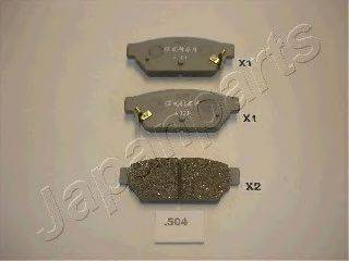 Комплект тормозных колодок, дисковый тормоз JAPANPARTS PP-504AF