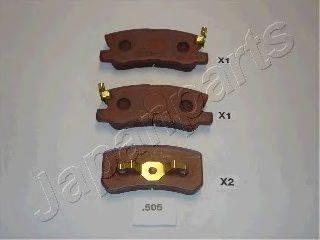 Комплект тормозных колодок, дисковый тормоз JAPANPARTS PP-505AF