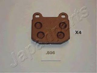 Комплект тормозных колодок, дисковый тормоз JAPANPARTS PP-506AF