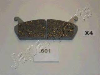 Комплект тормозных колодок, дисковый тормоз JAPANPARTS PP-601AF