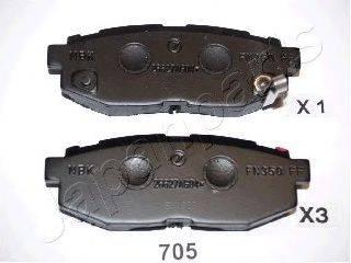 Комплект тормозных колодок, дисковый тормоз JAPANPARTS PP-705AF