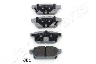 Комплект тормозных колодок, дисковый тормоз JAPANPARTS PP-801AF