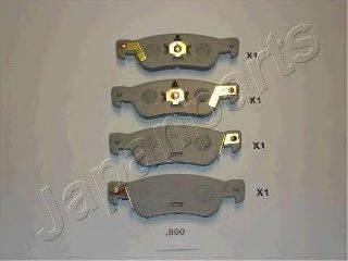 Комплект тормозных колодок, дисковый тормоз JAPANPARTS PP-900AF