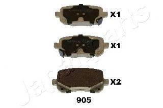 Комплект тормозных колодок, дисковый тормоз JAPANPARTS PP-905AF