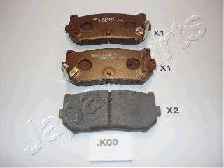 Комплект тормозных колодок, дисковый тормоз JAPANPARTS PP-K00AF