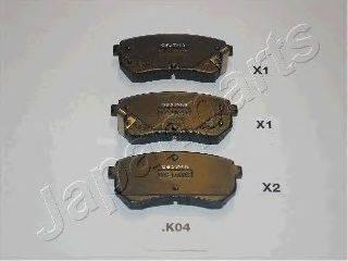 Комплект тормозных колодок, дисковый тормоз JAPANPARTS PP-K04AF