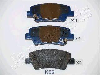 Комплект тормозных колодок, дисковый тормоз JAPANPARTS PP-K06AF