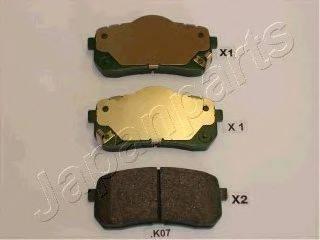 Комплект тормозных колодок, дисковый тормоз JAPANPARTS PP-K07AF